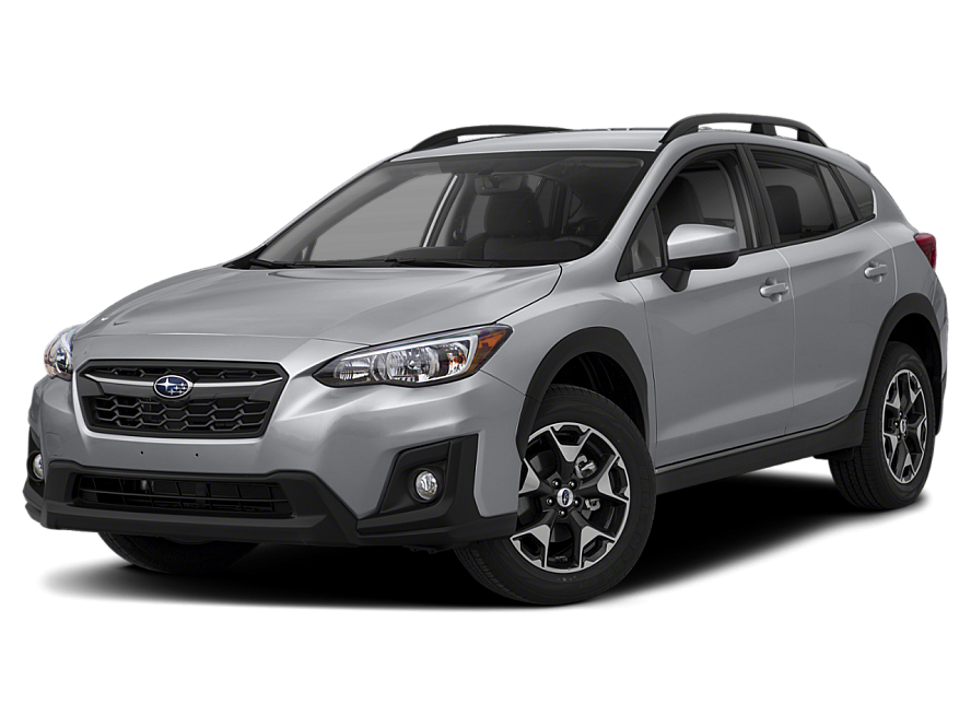 Three quarter view of the front end of the 2018 Subaru Crosstrek Convenience