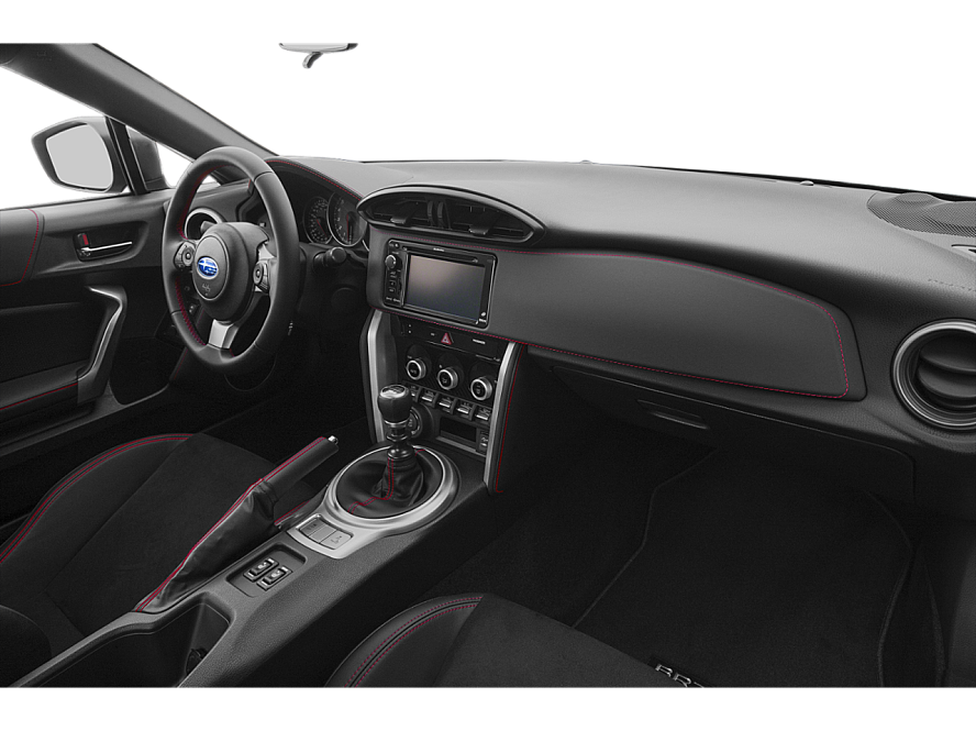 The dashboard from the passenger side of a 2019 Subaru BRZ