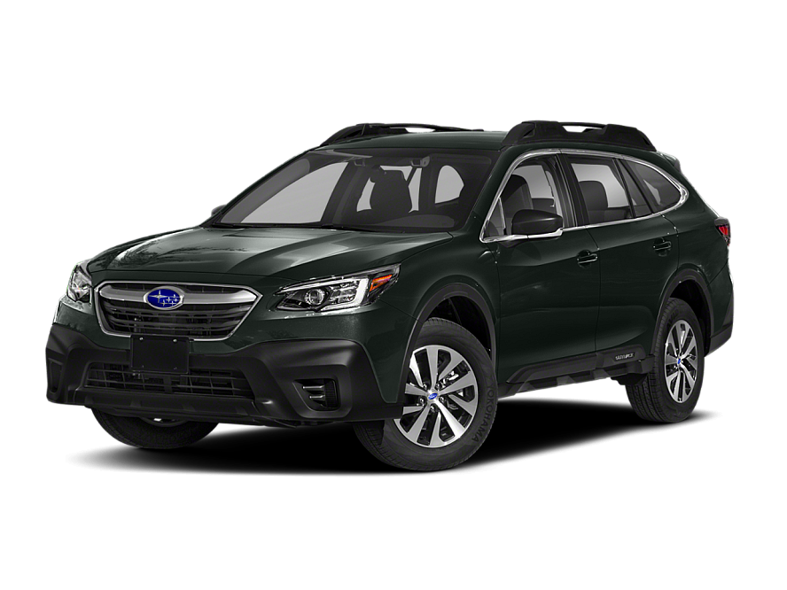 Three quarter view of the front end of the 2020 Subaru Outback Convenience