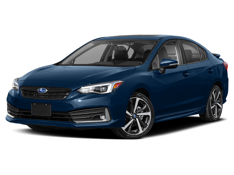 Three quarter view of the front end of the 2020 Subaru Impreza Convenience