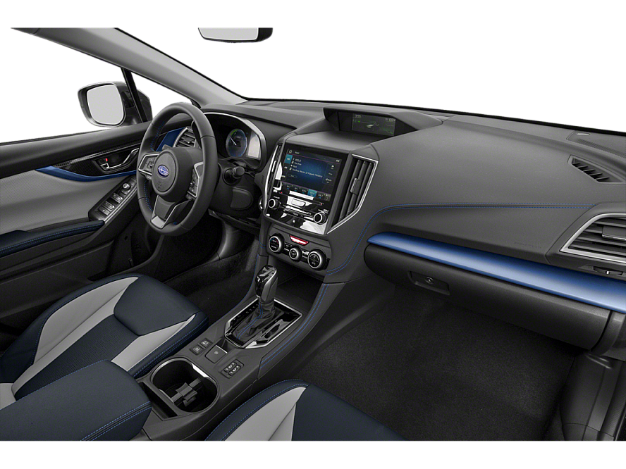 The dashboard from the passenger side of a 2020 Subaru Crosstrek Plug-in Hybrid Limited