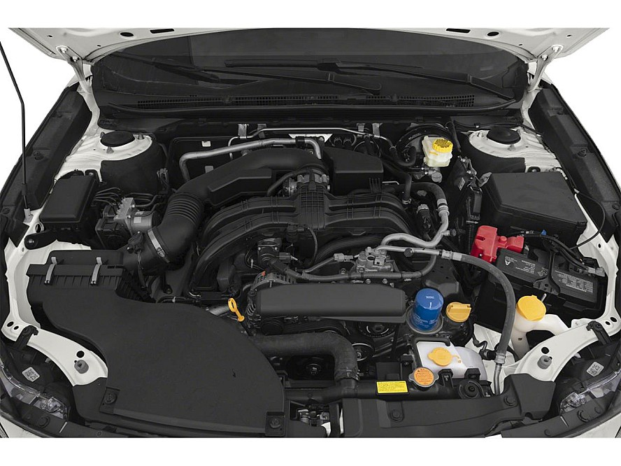 Inside the engine compartment of a 2020 Subaru Legacy Convenience