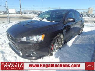 Used 2015 Mitsubishi Lancer Evolution GSR 4D Sedan AWD 2.0L for sale in Calgary, AB