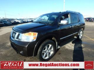 Used 2013 Nissan Armada Platinum Edition 4D Utility 4WD 5.6L for sale in Calgary, AB