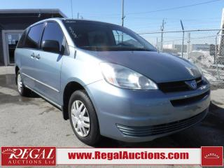 Used 2004 Toyota Sienna CE 4D WAGON for sale in Calgary, AB