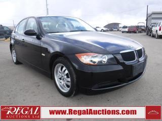 Used 2007 BMW 3 SERIES 323I 4D SEDAN for sale in Calgary, AB
