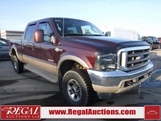 Used 2004 Ford F-350 KING RANCH 4D CREW CAB 4WD for sale in Calgary, AB