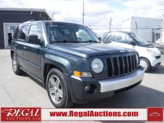 Used 2007 Jeep Patriot Limited 4D Utility 4WD for sale in Calgary, AB