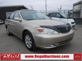 Used 2002 Toyota Camry XLE 4D Sedan for sale in Calgary, AB