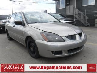 Used 2004 Mitsubishi Lancer 4D Sedan for sale in Calgary, AB