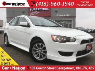 Used 2011 Mitsubishi Lancer SE | LEATHER | ROOF | SPOILER | for sale in Georgetown, ON