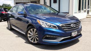 Used 2015 Hyundai Sonata Sport 2015 HYUNDAI SONATA 2.4 SPORT – BACK-UP CAMERA! BLIND-SPOT MONITORING! for sale in Kitchener, ON