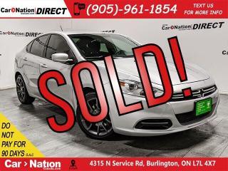 Used 2013 Dodge Dart SXT| LOCAL TRADE| BLUETOOTH| for sale in Burlington, ON