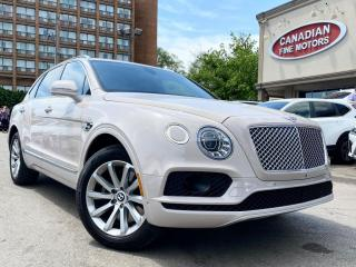 Used 2017 Bentley Bentayga W12 | RED INT W/ DIAMOND STITCH | CLEAN CARFAX | RARE COLOR for sale in Scarborough, ON