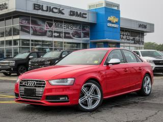 Used 2014 Audi S4 PROGRESSIVE, 6-SPEED, SUNROOF, NAV *SUPERCHARGED!* for sale in Ottawa, ON