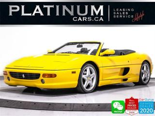 Used 1999 Ferrari F355 SPIDER, F1 Paddle SHIFT, Modena Yellow for sale in Toronto, ON