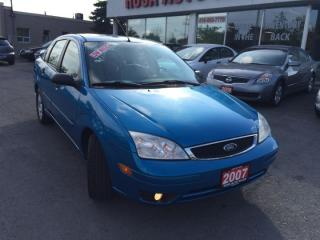 Used 2007 Ford Focus LOW KM,SUNROOF,LEATHER,PW PL PM ,MINT for sale in Oakville, ON