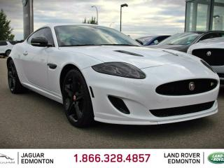 Used 2015 Jaguar XK XKR - CPO 6yr/160000kms manufacturer warranty included until June 29, 2021! CPO rates starting at 1.9%! Local One Owner Trade In | No Accidents | Edmonton Car Show Model | Black Out Edition | 3M Protection Applied | Bluetooth | Power/Memory Seating | Soft for sale in Edmonton, AB