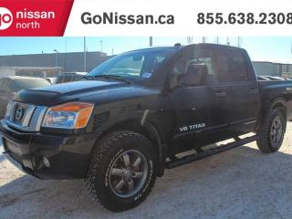 Used 2014 Nissan Titan PRO-4X 4x4 Crew Cab, Leather, Navigation, Sunroof, Top Model!! for sale in Edmonton, AB