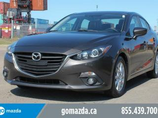 Used 2015 Mazda MAZDA3 GS MANUAL LEATHER HEATED SEATS SUNROOF 1 OWNER LOCAL ACCIDENT FREE LOW KMS for sale in Edmonton, AB