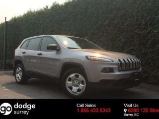 Used 2015 Jeep Cherokee Sport + UCONNECT 5.0 + NO EXTRA DEALER FEES for sale in Surrey, BC