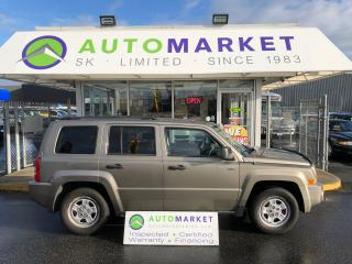 Used 2008 Jeep Patriot Sport 4WD NORTH EDITION! YOU WORK/YOU DRIVE! for sale in Langley, BC