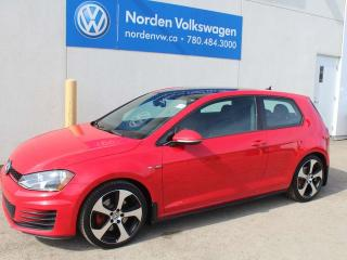 Used 2015 Volkswagen Golf GTI 2.0 TSI 3DR MANUAL W/ SPORT PKG - VW CERTIFIED for sale in Edmonton, AB