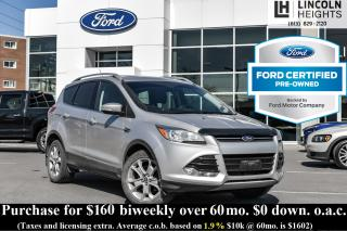 Used 2014 Ford Escape TITANIUM 4WD - BLUETOOTH - LEATHER - PWR PANORAMA ROOF - NAV for sale in Ottawa, ON