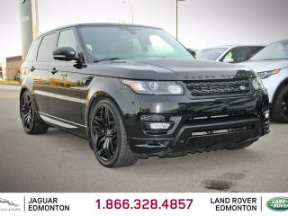 Used 2015 Land Rover Range Rover Sport V8 Supercharged Autobiography STEALTH - CPO 6yr/160000kms manufacturer warranty included until May 24, 2021! CPO rates starting at 2.9%! Local One Owner Trade In | No Accidents | Rear DVD | Navigation | Surround Camera System | Parking Sensors | Rev for sale in Edmonton, AB