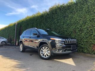 Used 2015 Jeep Cherokee LIMITED 4WD + LEATHER HEATED FT SEATS + NAVIGATION + BACK-UP CAMERA + NO EXTRA DEALER FEES for sale in Surrey, BC