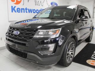 Used 2016 Ford Explorer Sport 4WD ecoboost, NAV, sunroof, heated/cooled power leather seats, back up cam and keyless entry for sale in Edmonton, AB