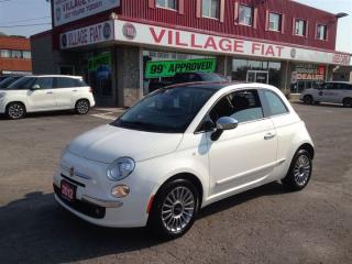 Used 2012 Fiat 500 Lounge ***MOONROOF** KEYLESS ENTRY*** for sale in Ajax, ON