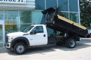 Used 2016 Ford F-550 4x4 diesel with 12 ft steel dump for sale in Richmond Hill, ON