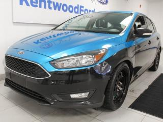 Used 2016 Ford Focus 3 Mos Deferral!| SE hatchback with heated seats, heated steering wheel and a back up cam for sale in Edmonton, AB