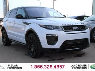 Used 2016 Land Rover Evoque HSE Dynamic Black Pack - CPO 6yr/160000kms manufacturer warranty included until April 26, 2022! CPO rates starting at 2.9%! Local One Owner Trade In | No Accidents | Navigation | Front/Rear Camera | Parking Sensors | Adaptive Cruise Control | Adaptive LED for sale in Edmonton, AB