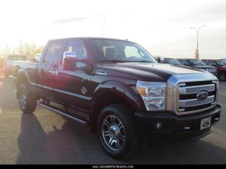 Used 2014 Ford F-350 Crew Cab 4X4 PLATINUM for sale in Lacombe, AB