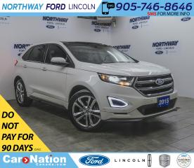 Used 2015 Ford Edge Sport | AWD | NAV | LEATHER | PANOROOF | REAR DVD for sale in Brantford, ON