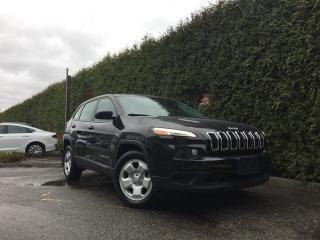 Used 2016 Jeep Cherokee Sport + SUNROOF + U-CONNECT 5.0 + NO EXTRA DEALER FEES + FREE LIFETIME ENGINE WARRANTY for sale in Surrey, BC