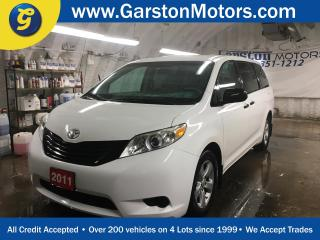 Used 2011 Toyota Sienna V6*KEYLESS ENTRY*POWER WINDOWS/LOCKS/MIRRORS*CRUISE CONTROL*TRI ZONE CLIMATE CONTROL w/REAR AIR CONTROL*AM/FM/CD/AUX*TRACTION CONTROL*ALLOYS* for sale in Cambridge, ON