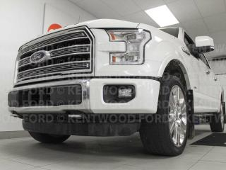Used 2016 Ford F-150 Limited ecoboost with NAV, sunroof, heated power leather seats all around, cooled front seats, lane departure, push start for sale in Edmonton, AB