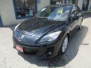 Used 2012 Mazda MAZDA3 LOADED GT EDITION 5 PASSENGER 2.5L - DOHC.. LEATHER.. HEATED SEATS.. POWER SUNROOF.. CD/AUX INPUT.. for sale in Bradford, ON