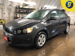 Used 2015 Chevrolet Sonic LT * Remote start * 6 Spd automatic * On Star * Oil life monitor * Traction control * Electronic stability control * Chrome exterior accents * Heated for sale in Cambridge, ON