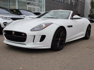 Used 2014 Jaguar F-Type V8 S - CPO 6yr/160000kms manufacturer warranty included until October 30, 2019! CPO rates starting at 0.9%! Local One Owner Trade In | No Accidents | FULL Front End 3M Applied | Bluetooth | Active Sport Exhaust | Reverse Traffic/Blind Spot/Closing Vehicle for sale in Edmonton, AB