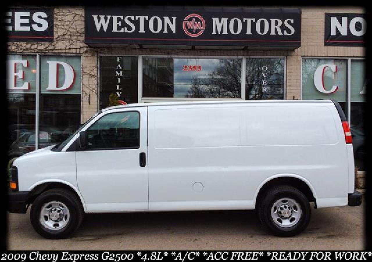 2009 Chevrolet Express Cargo Van G2500* 4.8L* A/C* ACC FREE* SHELVING