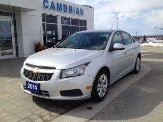 Used 2014 Chevrolet Cruze 1LT w/ Power Group! Great Value! for sale in Sudbury, ON
