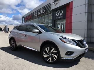 Used 2015 Nissan Murano Platinum w/ Navigation for sale in Oakville, ON