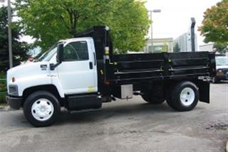Used 2007 GMC C7500 diesel new 14 ft steel dump for sale in Richmond Hill, ON