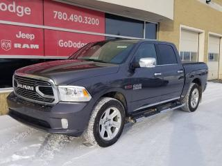 Used 2016 RAM 1500 Limited 4x4 Crew Cab, ECO DIESEL,TOP MODEL, LEATHER, NAV, SUNROOF, SUPER LOW KMS! for sale in Edmonton, AB