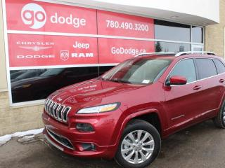 Used 2016 Jeep Cherokee Overland 4x4 / Sunroof / GPS Navigation / Rear Back Up Camera for sale in Edmonton, AB