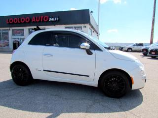 Used 2012 Fiat 500 C Lounge CONVERTIBLE BLUETOOTH AUTO CERTIFIED for sale in Milton, ON
